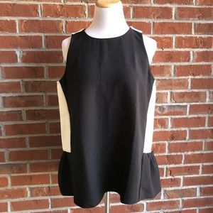 Ann Taylor Color Block Swing Shell Sleeveless Top